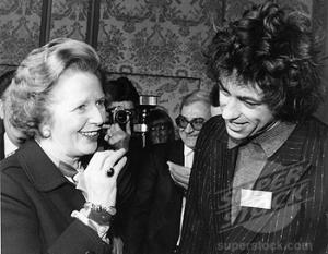 Margaret Thatcher and Bob Geldof, c 1980s.