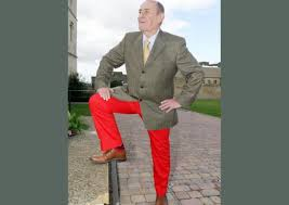 bloke in red trousers