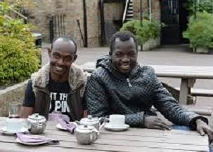 immigrants drinking tea