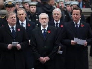 corbyn remembrance farted