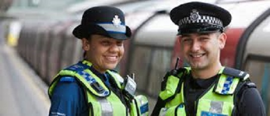 police celbrating
